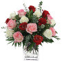 Bouquet di 18 rose miste