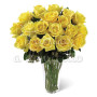 Bouquet di 24 rose gialle