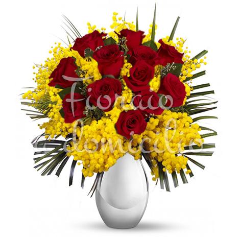 12-rose-rosse-mimosa