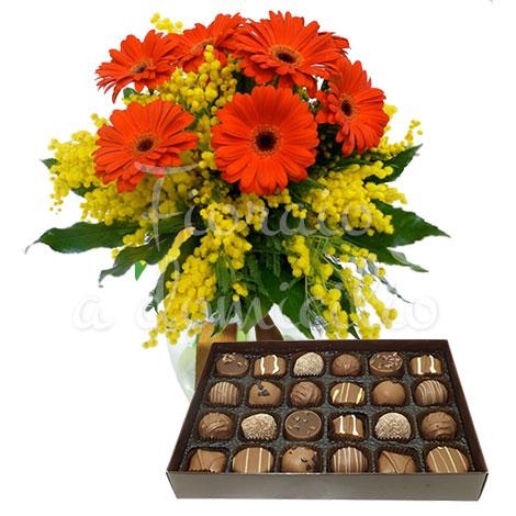 bouquet–di-gerbere-scatola-cioccolatini